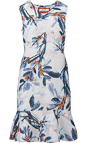 Backstage Clothing Kleid mit Blumenmuster Gr. 44, dunkelblau