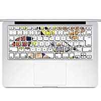 igsticker MacBook Air 13inch 2010 ~ 2017 専用 キーボード用スキンシール キートップ ステッカー A1466 A1369 Apple マックブック エア ノートパソコン アクセサリー 保護 014827 魚 イラスト