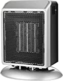 FGDFGDG Configuración de Temperatura del Calentador del Ventilador eléctrico Calentador Auxiliar portátil Caliente 400w / 900w para Calentadores de Espacio eléctricos de baño,Plata