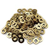 Brass Flat Washer, M6 Metric Bronze Washer for Screws Bolts, DIN 934, 6mm ID, 12mm OD, 1mm Thick (Pack of 150)