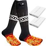 LEBOO Heated Socks for Men Women, 5000mAh Electric Rechargeable Batttery Powered Socks - Up to 18...