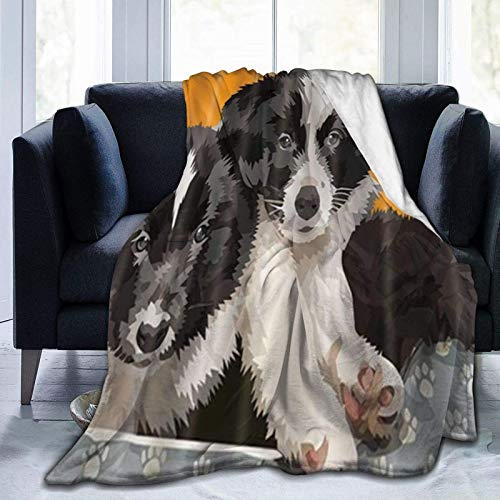 Manta de forro polar con diseño de pastor de dibujos animados, ultrasuave, ligera, acogedora, duradera, para adultos, niños, 201 x 152 cm