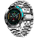 LIGE Herren Smart Watches, IP67 Wasserdichte Fitness Tracker Uhren mit Herzfrequenz Blutsauerstoff Blutdruck Überwachun Voll Touchscreen Sport Smartwatch Edelstahlband für...
