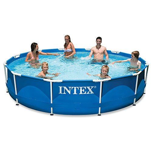 "Intex FBA_28211EH 12' x 30"" Metal Frame Pool with Filter Pump, 12 ft, beige"