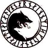 WickedGoodz Viking ÚLFHÉÐNAR Wolf Vinyl Refrigerator Bumper Magnet - Norse Magnet