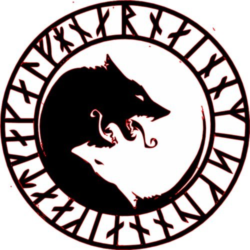 WickedGoodz ÚLFHÉÐNAR Rune No Mercy Only Violence Wolf Vinyl Decal - Viking Bumper Sticker - Perfect Icelandic Scandinavian Gift