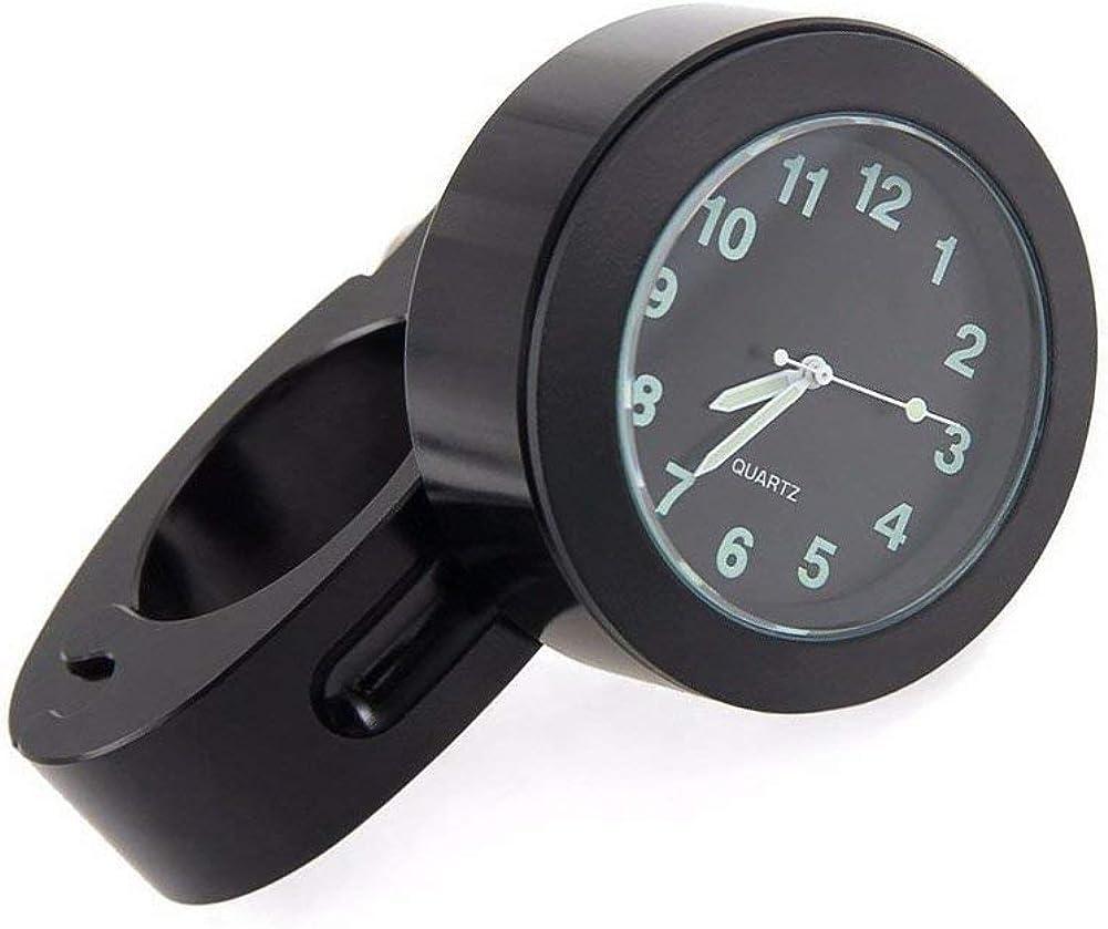 Dxlta Fahrrad Halterung Motorrad Lenkeruhr Mini Uhr Wasserdichte Wählen Uhr Weiß Schwarz Uhren