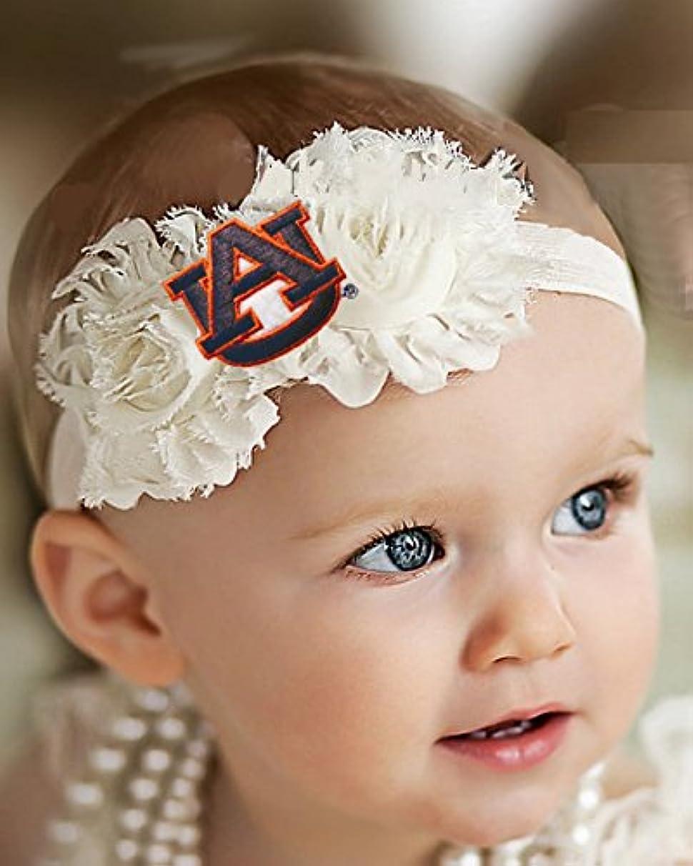 Future Tailgater Auburn Tigers Baby/Toddler Shabby Flower Hair Bow Headband
