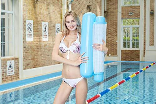 Himifuture - Hamaca de agua, hinchable para piscina, cama flotante, sofá de agua, alfombrilla de playa para piscina, playa, mar, color azul claro