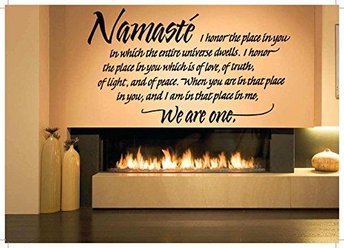 Wall Room Decor Art Vinyl Sticker Mural Decal Namaste Quote Yoga Zen Big AS1541