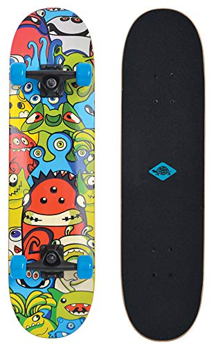 Schildkröt Skateboard Unisex Bambino, Slider 31' Monsters, 510642, Taglia Unica