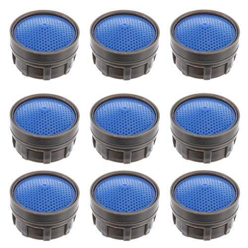 VILLCASE 10 Piezas Kit de Reemplazo de Aireador de Grifo Adaptador de Inserción Restrictor de Filtro de Grifo de Alto Flujo para Fregadero de Baño de Cocina