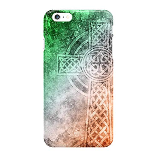Distressed Irish Celtic Cross Clear Shockproof Cases Cover Compatible for iPhone 6 Plus/6s Plus