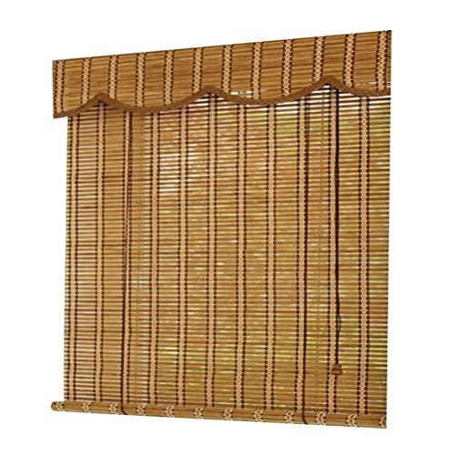 RONGXUE rolluiken, jaloezieën, 60% verduisterende bamboe jaloezieën gebruikt in tuin terras galerij duurzame bamboe jaloezieën