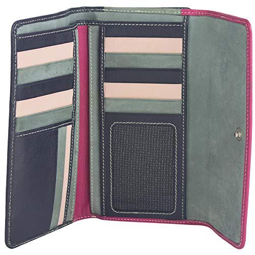 Sunsa Geldbörse für Damen großer Leder Geldbeutel Portemonnaie mit RFID Schutz Brieftasche mit viele Kreditkarten Fächer Geldtasche Wallet Purses for Women das Beste Gift kleine Geschenk 81624