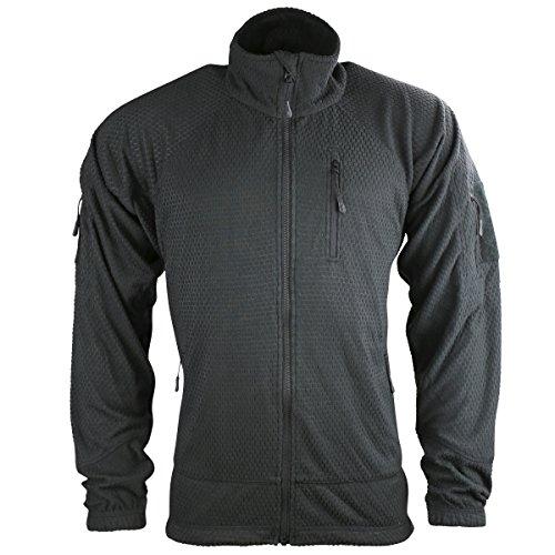 Kombat UK Herrenjacke Delta Tactical, Fleece mit Gitterstruktur Medium schwarz