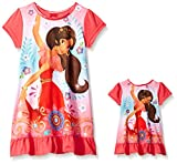 Disney Girls Avalor Nightgown with Matching Doll Gown, Elena Royalty in Red, 4