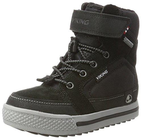 Viking Unisex-Kinder Zing Hohe Sneaker, Schwarz (Black/Grey), 34 EU