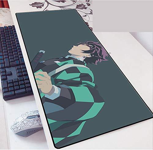 Anime Alfombra De Ratón Anime Demon Slayer丨800X300Mm丨Almohadilla De Rubbe Durable丨Estera De Teclado Estera De Escritorio Computadora Tableta Juego Mouse Pad-D_800*300 * 3MM