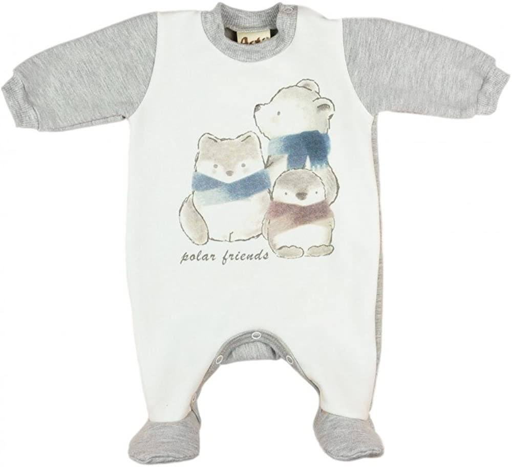 Mütze Gr 56 62 68 74 80 Dino grau NEU Baby Jungen Set 2-teilig Strampler