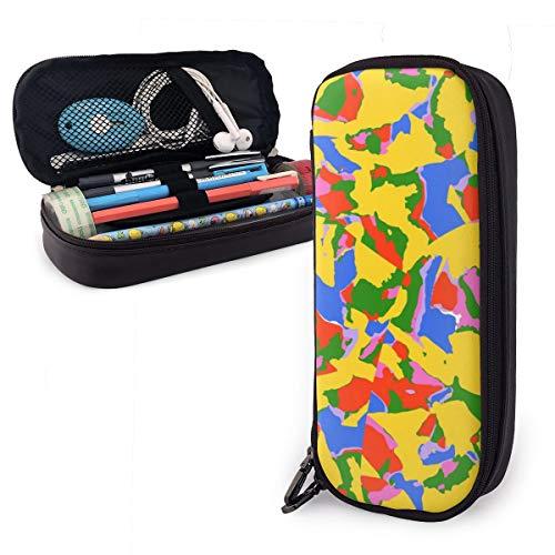 Estuche de papel triturado de colores para niños y niñas, estuche de lápices grande para estudiantes, universidad, material escolar y oficina