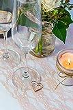 100% Mosel Tischläufer Spitze, in Vintage Rosé (30 cm x 20 m), zartes Tischband aus Spitze, edle Tischdeko für Hochzeit & Taufe, festliche Dekoration zu besonderen Anlässen - 2