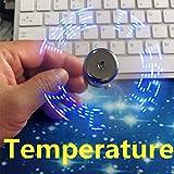 Regalo Creativo de la exhibición de la Temperatura del Ventilador USB, con exhibición de la Temperatura del Gadget Fresco de la luz del LED