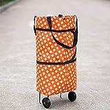 Zhaoyu Einkaufstrolley, groß, leicht, mit Rädern, faltbar, für einfache Lagerung und Transport (49 x 39 x 28 cm)