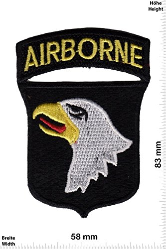 Patch - Airborne - United States Army Special Forces Command - Wappen und Schrift - US Army - Military - U.S. Army - Air Force -Tactical - Arme - Bundeswehr - Militär - Patches - Aufnäher Embleme Bügelbild Aufbügler