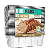 Aluminum Bread Loaf Pans for Baking (50 Pack) 8.5'x4.5' Standard Size Foil Bread Pans - Disposable Tins for Bread Baking - Compatible with RoadPro 12-Volt Portable Stove