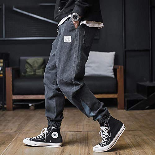 TUOP Plus Size Jeans Heren Hiphop Denim Cargo Broek Losse Pocket Harem Broek