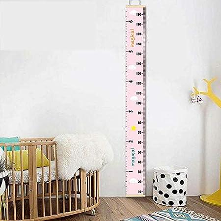 Bastone da parete per bambini camere rimovibile altezza di misurazione per ragazzi per la crescita righello da appendere HB.YE 200 x 20 cm
