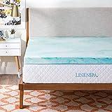 Linenspa LS30TT30SWGT Swirl Memory Foam Topper, 3 Inch