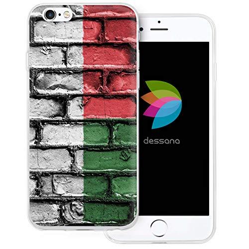 dessana Madagaskar transparante siliconen TPU beschermhoes 0,7 mm dunne mobiele telefoon soft case cover tas voor Apple, Apple iPhone 6/6S Plus, Madagaskar-vlag