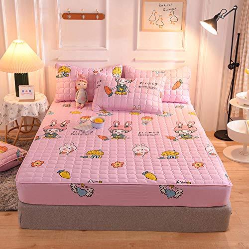 CYYyang Unterbett Soft-Matratzen-Topper, Matratzenschutz Boxspring-Betten geeignet Bettlaken rutschfeste Dicke Schutzhülle-9_180cmx200cm