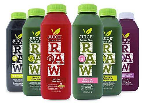 3-Day Collagen Infused Juice Cleanse by Juice From the RAW - Improve Health of your Hair, Skin, and Nails / Detoxify Your Body / Be Healthy / 100% Raw Cold-Pressed Juices (18 Total 16 oz. Bottles)