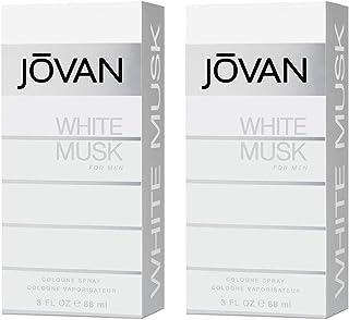 Jovan White Musk Men Eau De Cologne Spray 88Ml, Pack Of 2, 3 Fl Oz