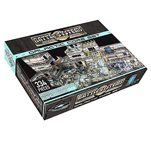Battle Systems Galactic Core Set - 28 mm Space Terrain - Jeu De Société - Tapis De Jeu en Néoprène - Terrain 3D Modulaire - Wargaming BSTSFC002