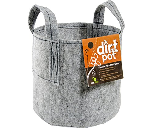 Hydrofarm HGDB65 Bag Reusable Planting, 65-Gallon Dirt Pot, 65 gal, Grey