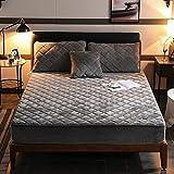 BOLO Suave cama hecha de 100% algodón, protector de colchón transpirable, cubrecolchón, colchón, sábana bajera ajustable de microfibra cepillada, 100 x 200 cm+25 cm