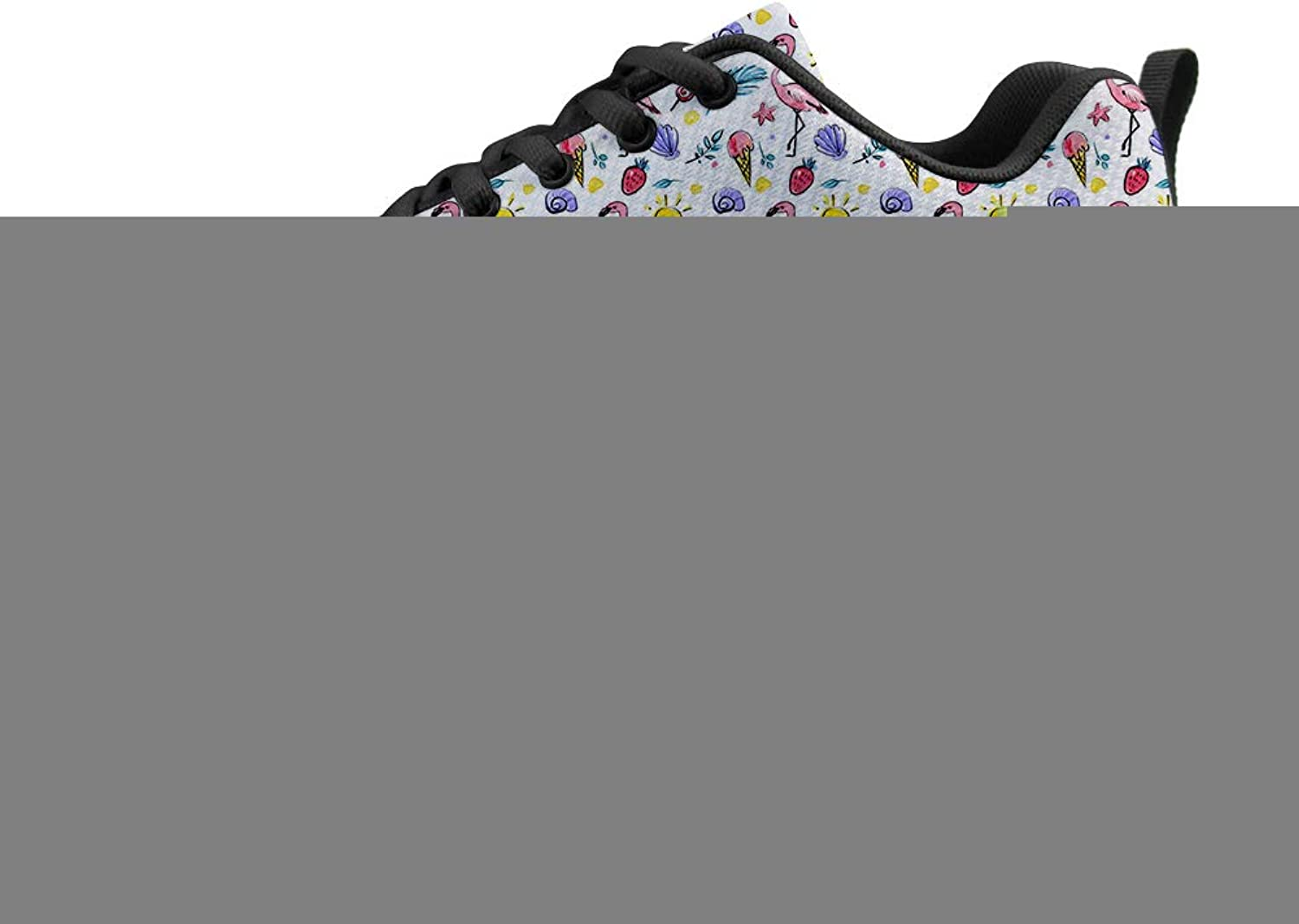 Owaheson Cushioning Sneaker Trail Running shoes Mens Womens Flamingo Strawberry Starfish Sunbathing