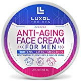 LUXOL Anti-Aging Face Cream Moisturizer for Men, Natural and Organic Anti Aging Cream To Reduce Puffiness, Wrinkles, Dark Circles, Crows Feet and Under Eye Bags 2oz