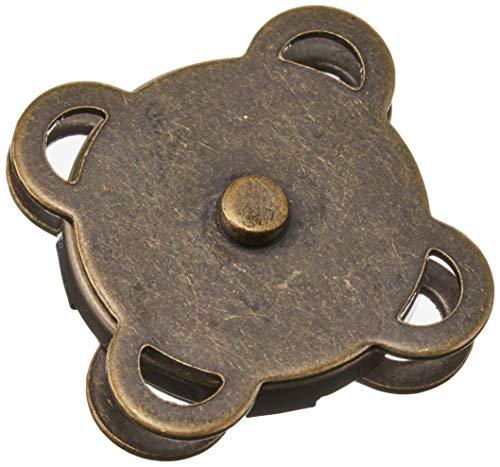 AOSNAP マグネットボタン 縫い付けマグネットホック 14mm アンティック 3個セット
