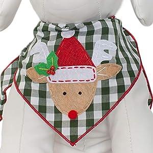 Tail Trends Christmas Dog Bandanas (Santa Claus, Snowman, Rudolph) Designer Appliques 100% Cotton