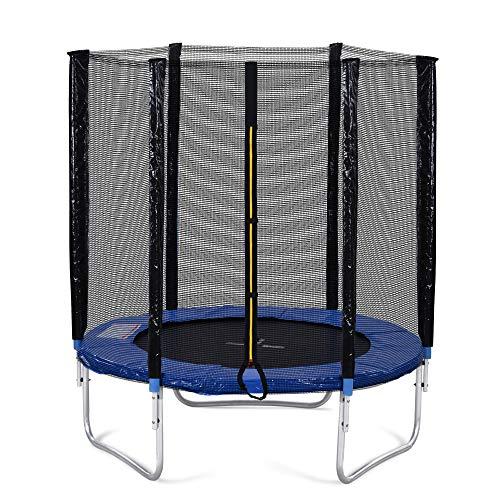 Fitness Vibrationsplatte Schwingungsplatte 6 Ft Trampolin Mit Sicherheitszaun Und Gepolsterten Bars Garten Im Freien Für Kinder Erwachsene Familie