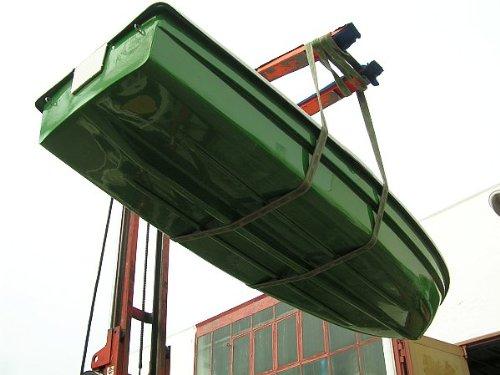 ANKA® Ruderboot 4,20m x 1,40m Grün/Grau