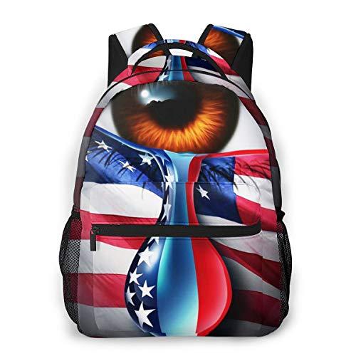 Laptop Rucksack Schulrucksack Amerikanischer sozialer Krisen Kummer, 14 Zoll Reise Daypack Wasserdicht für Arbeit Business Schule Männer Frauen