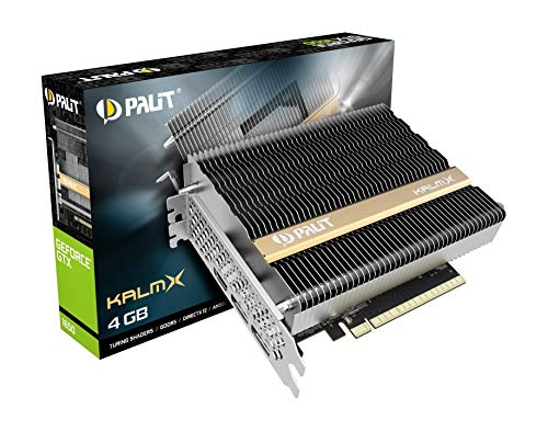 Palit GeForce GTX 1650 KalmX 4GB GDDR5 grafische kaart passief 2 x DP/HDMI