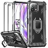 IMBZBK Coque pour Xiaomi Mi 11 Lite 4G/5G Housse + [2 Pack] Verre Trempé Protection écran,...