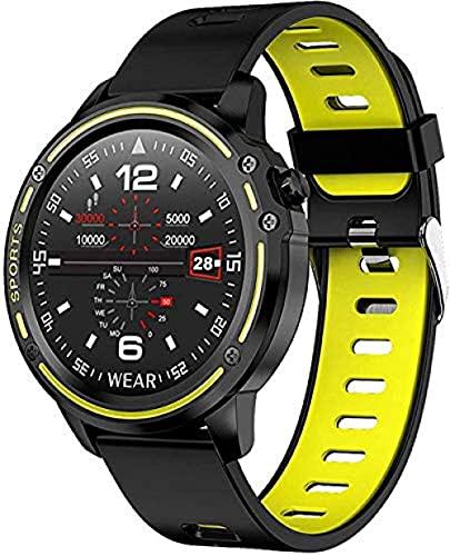 SVUZU Reloj Inteligente, Reloj con Bluetooth, Reloj de Fitness, Reloj Inteligente, podómetro Digital, Monitor de sueño Impermeable, Reloj de Entrenamiento Deportivo
